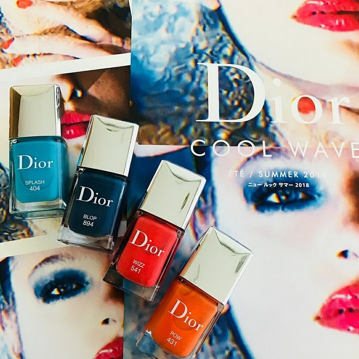Releases & limited editions: Летн�� коллекци� маки�жа Dior Cool Wave Makeup Collection 2018